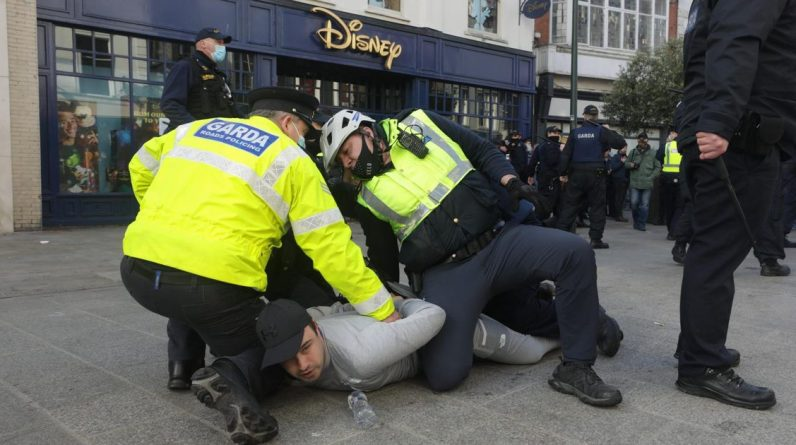 Direct |  Riots and arrests at anti-Corona protest in Dublin |  Interior