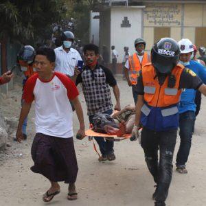 Police shot dead protesters in Myanmar