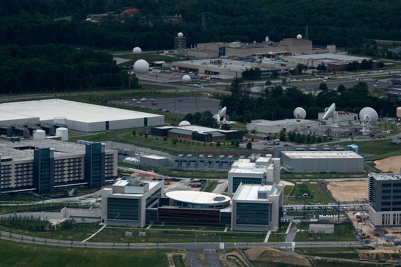 U.S. Cyber Command Joint Operations Center in Fort Mead, Maryland.