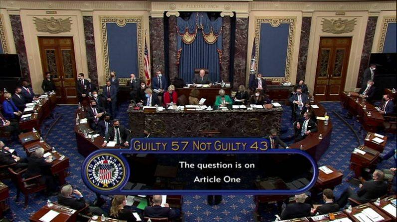 The Senate acquits Trump in his impeachment trial