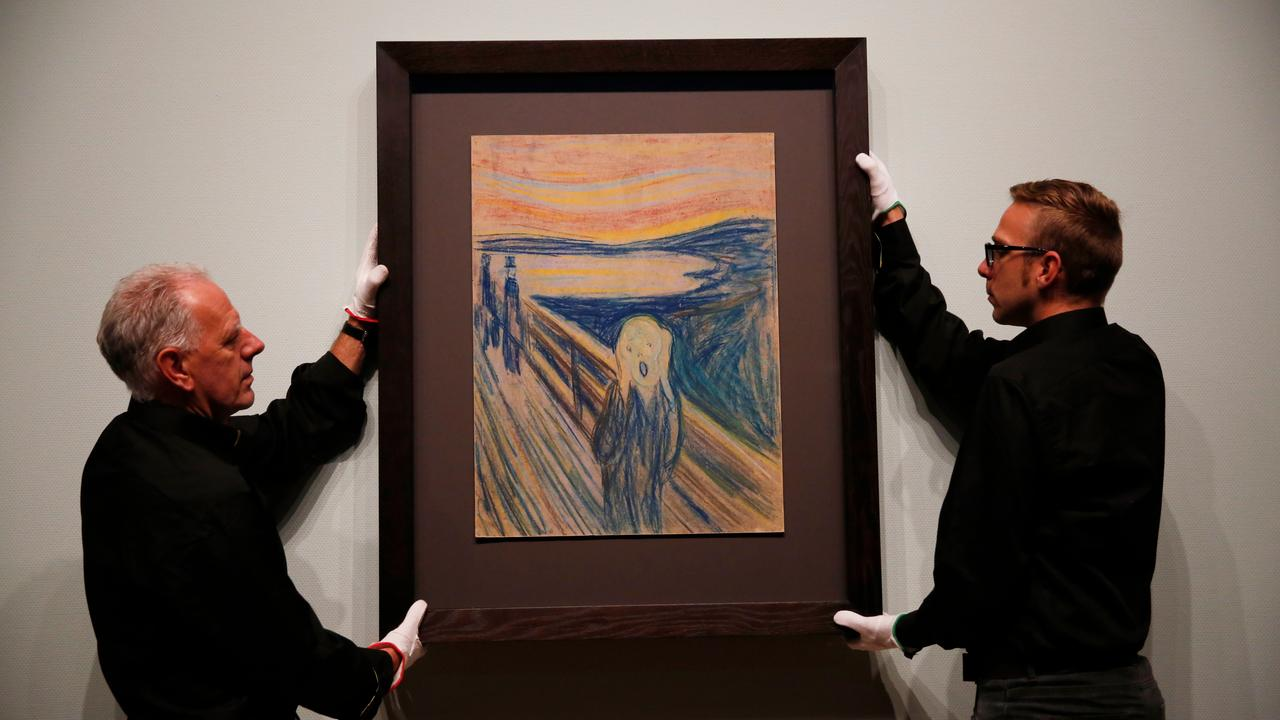 The museum discovers that the message of painter Munch in The Scream is |  Currently