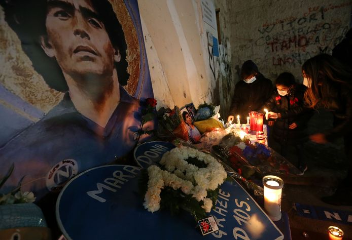 The people of Naples mourned Diego Maradona.