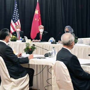 Conflict between Chinese and American diplomats during the summit
