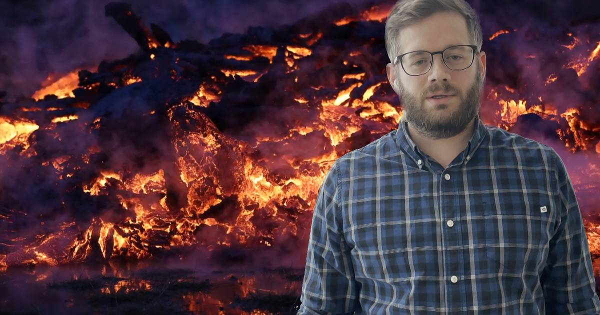"""Gerwin creates stunning and unique photos of a volcanic eruption in Iceland: """"It was amazing"""" 