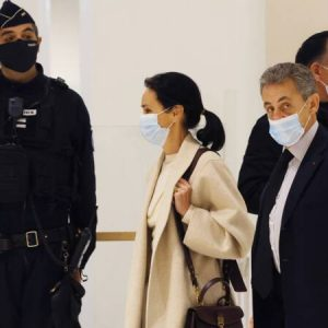 Imprisoned former French President Sarkozy on charges of corruption