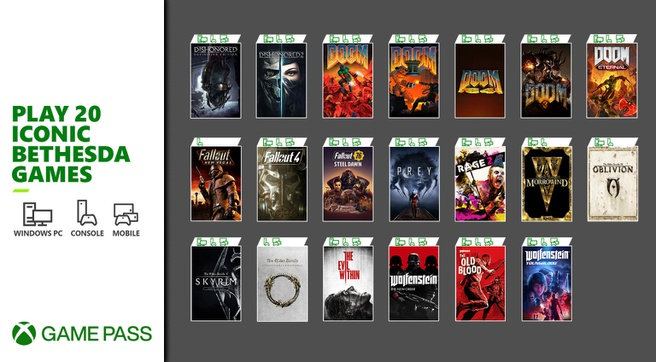 The 20 Bethesda Games Coming to Xbox Game Pass