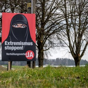 The majority of Swiss would vote in favor of banning the burqa in a referendum  Currently