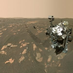 The persevering Mars rover takes an epic selfie on the Red Planet (with helicopters!)