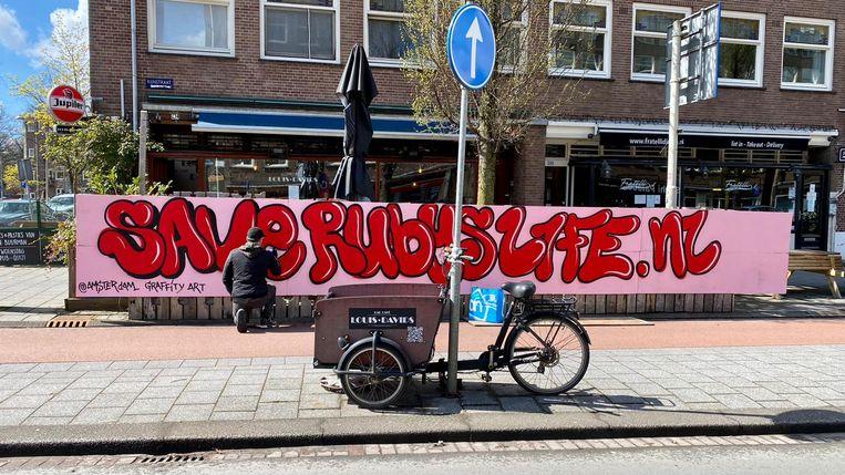 David Jurgans of Amsterdam Graffiti Art has been working on artwork for Ruby Alladin.  Image courtesy of Rolyn Skippower