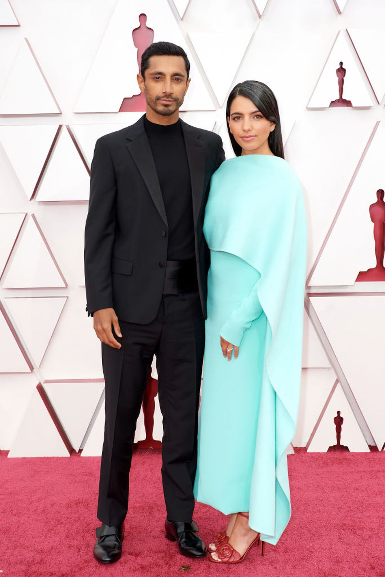 LOS ANGELES, CA - APRIL 25: (For editorial use only) In this posted photo provided by AMPAS, Riz Ahmed and Fatimah Farahin Mirza attended the 93rd Annual Academy Awards at Union Station on April 25, 2021 in Los Angeles, California.  (Photo by Matt Beatty / AMPAS via Getty Images)