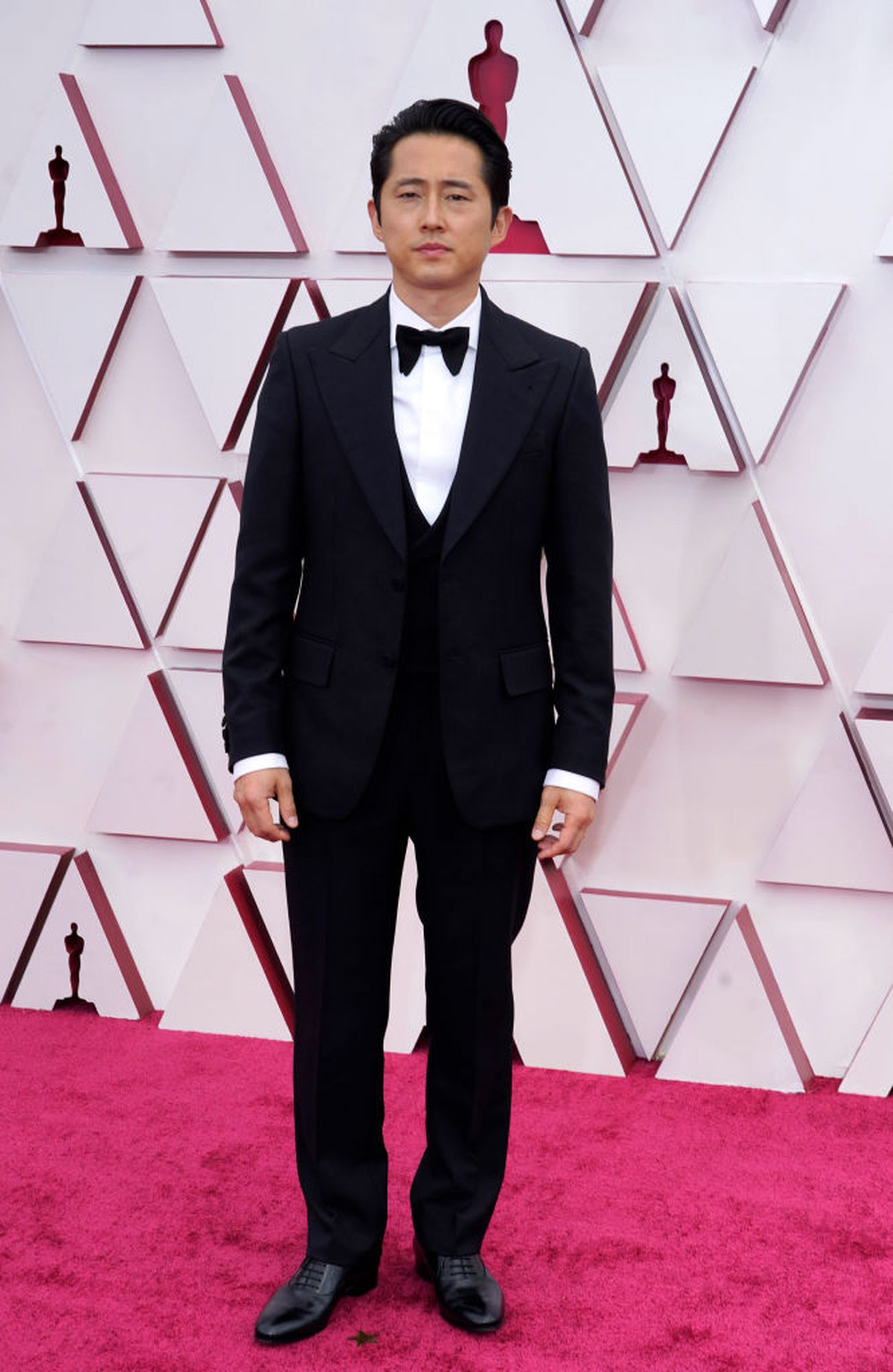 LOS ANGELES, CA - April 25: Stephen Yun attends the 93rd Annual Academy Awards at Union Station on April 25, 2021 in Los Angeles, California.  (Photo by Chris Bisillo-Ball / Getty Images)