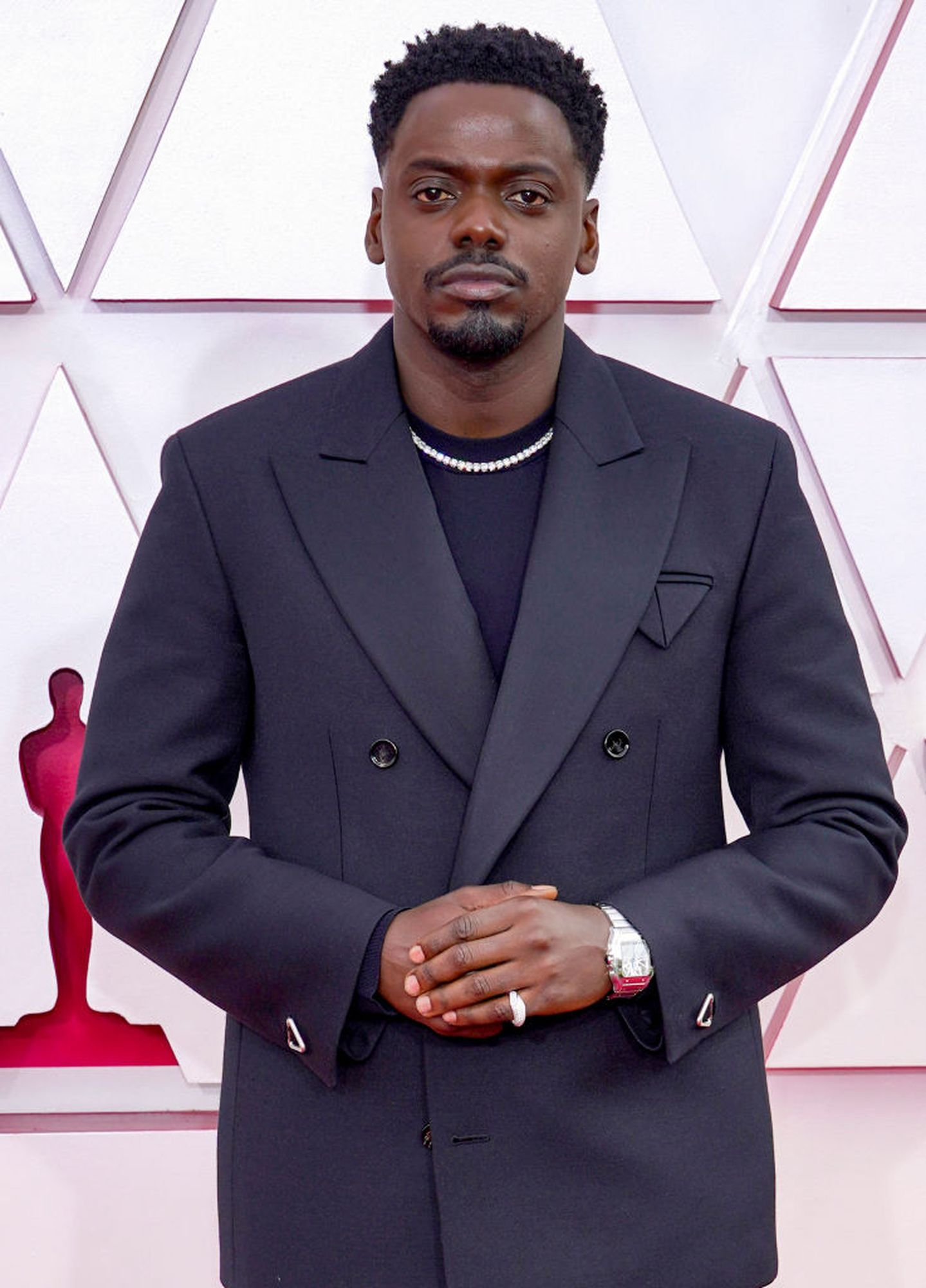 LOS ANGELES, CA - April 25: Daniel Kaluuya attends the 93rd Annual Academy Awards at Union Station on April 25, 2021 in Los Angeles, California.  (Photo by Chris Bisillo-Ball / Getty Images)