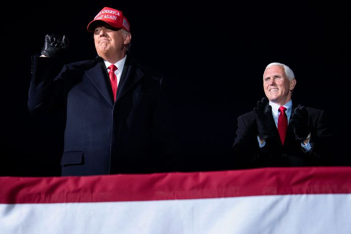 Then President Donald Trump and Vice President Mike Pence during the election campaign last year.