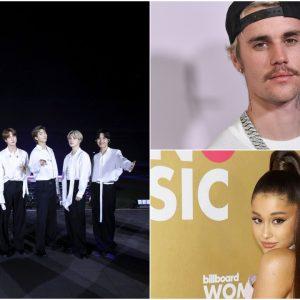 BTS, Justin Bieber, Ariana Grande