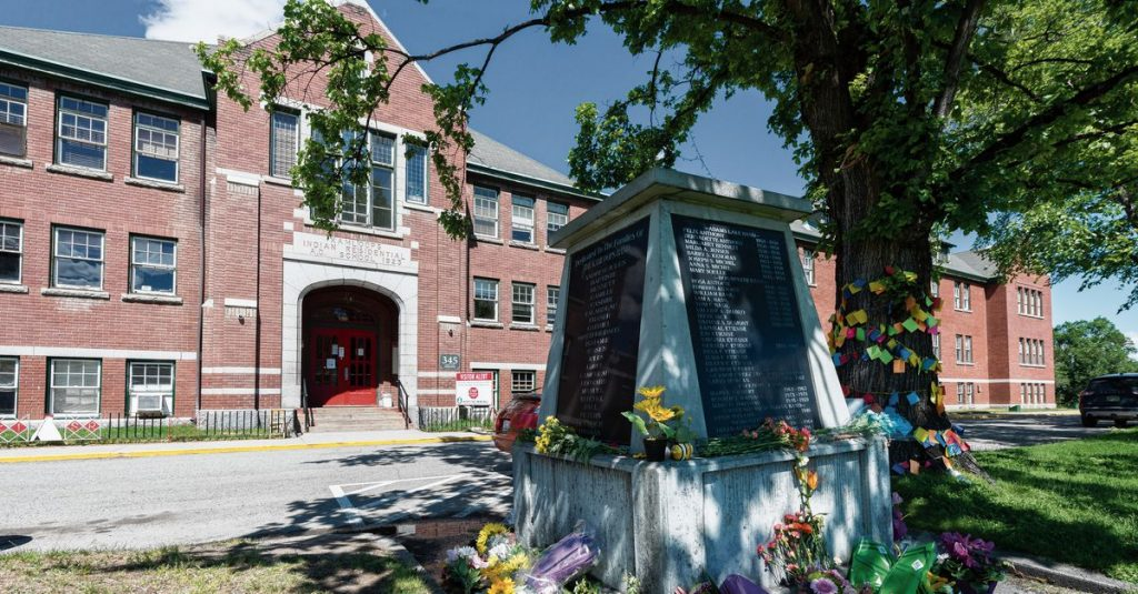 Mass grave of 215 Aboriginal children hit at a former boarding school in Canada