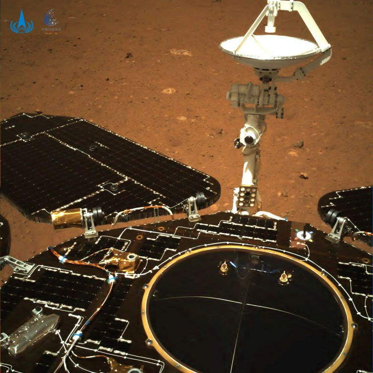 China shares the first photos of the Martian explorer Zhurong