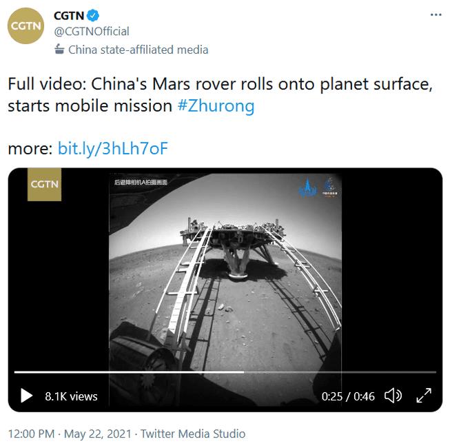 Zhurong from SIP video tweet