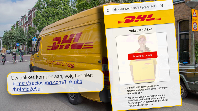 Gevaarlijke Android-malware duikt op in valse Track & Trace-app van 'DHL'