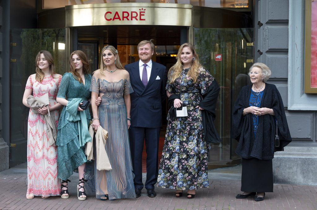 Maxima with her family and mother-in-law at a concert in Carré