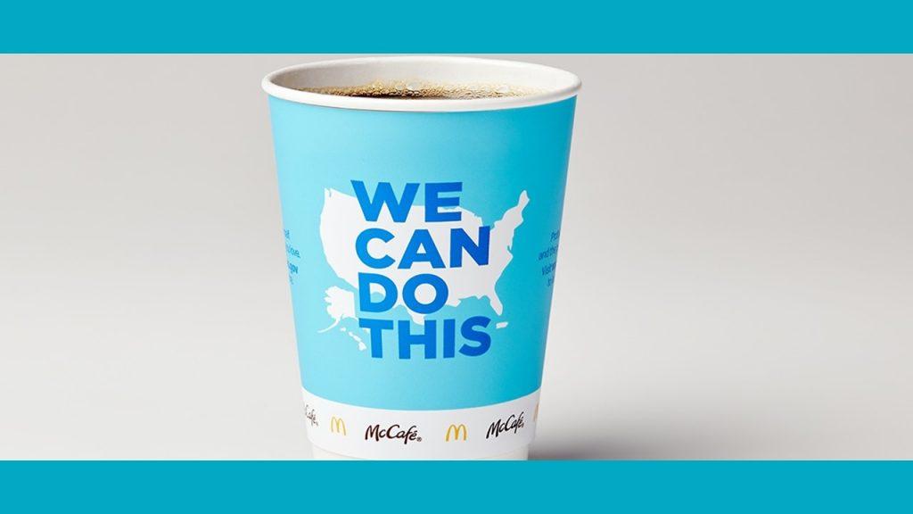 McDonald's roept klanten op zich te laten vaccineren via packaging
