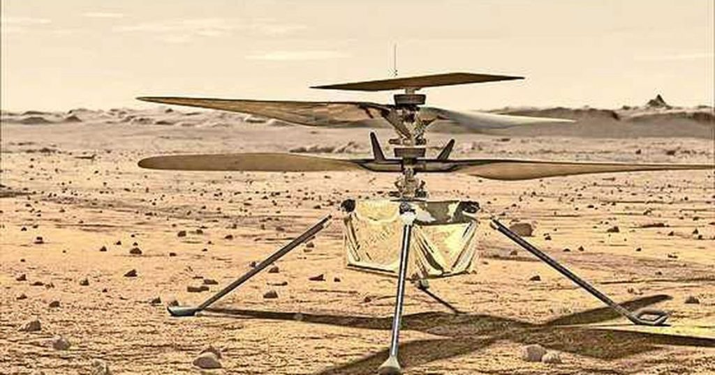 The ingenuity of the small helicopter completes its fourth mission on Mars so far  abroad