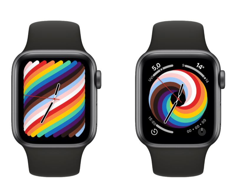 Pride 2021 watch face for Apple Watch.