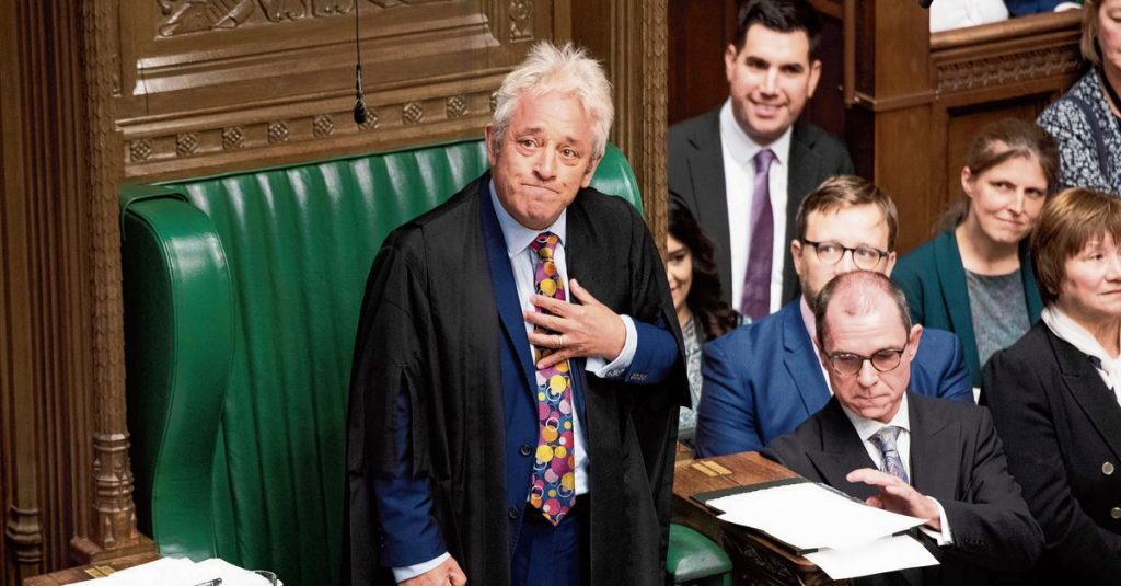 Former Speaker of the House of Commons John Bercow moves into action