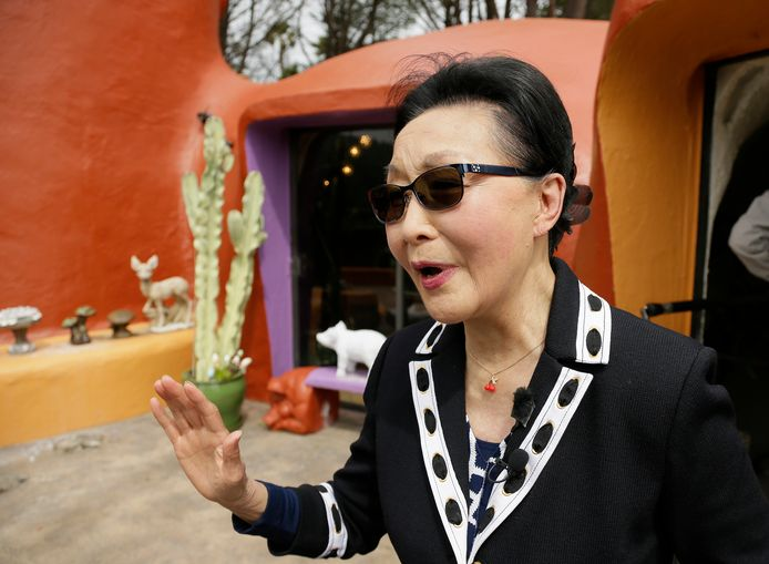 Florence Fang, owner of the Flintstones home.