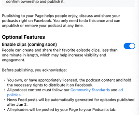Podcast on Facebook
