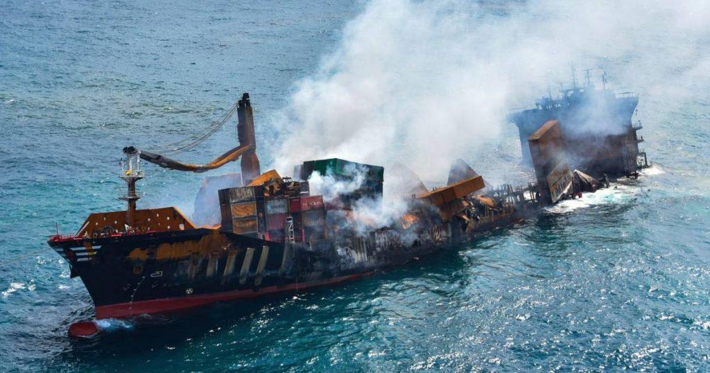 Partially burnt cargo ship off the coast of Sri Lanka: a massive environmental disaster threatening |  abroad