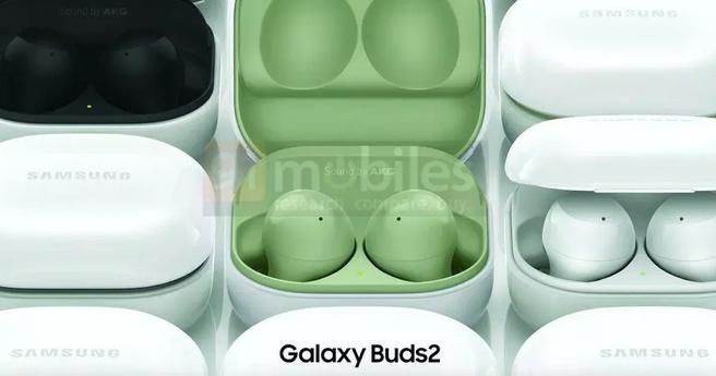 Samsung Galaxy Buds2-renders across 91 phones