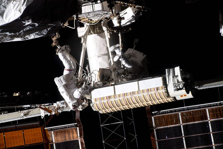 Which European will soon dangle from the International Space Station, or walk on the moon?