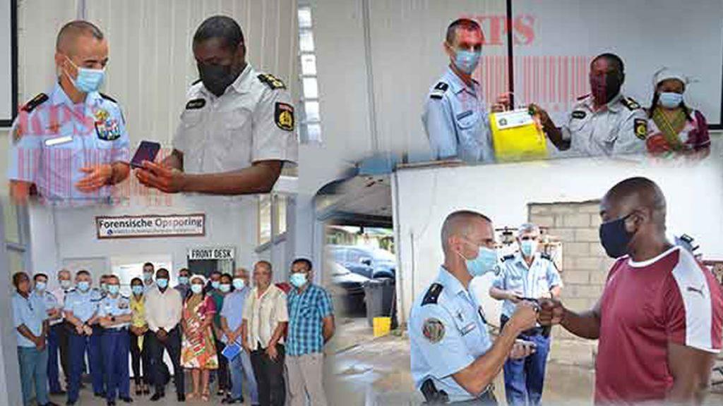 Delegatie Franse Gendarmerie bezoekt Korps Politie Suriname