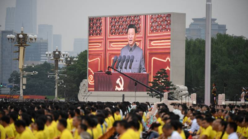 China celebrates 100th anniversary of Communist Party, Xi warns against 'bullies'