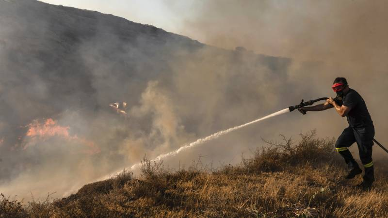 Forest fires in Cyprus: 'We fear the winds will change tonight'