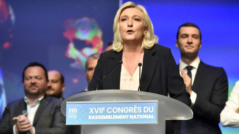 Le Pen was re-elected as leader of the right-wing populist National Rally