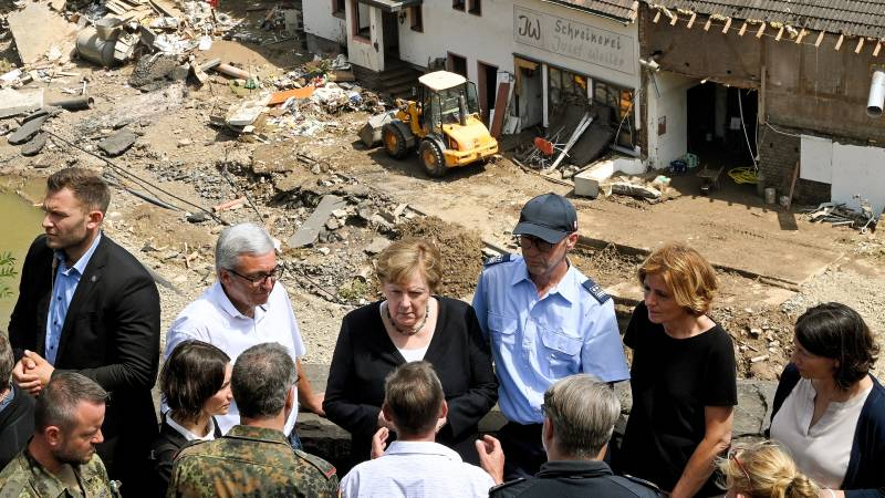 Merkel in the disaster zone: 'No words for this kind of devastation'