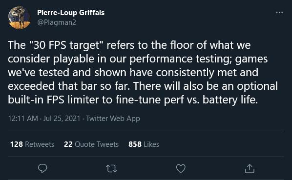 Steam Deck fps limiter and 30fps target