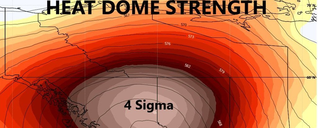 The destroyed 'heat dome' holds records of extreme temperatures in North America