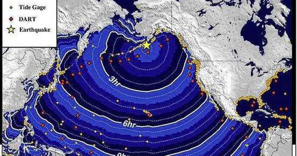 Tsunami alert after 8.2 earthquake near Alaska |  abroad