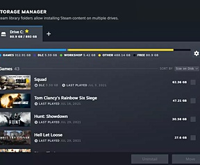 Steam gets a new download page and storage management (Source: Windows Central y PC Gamer)