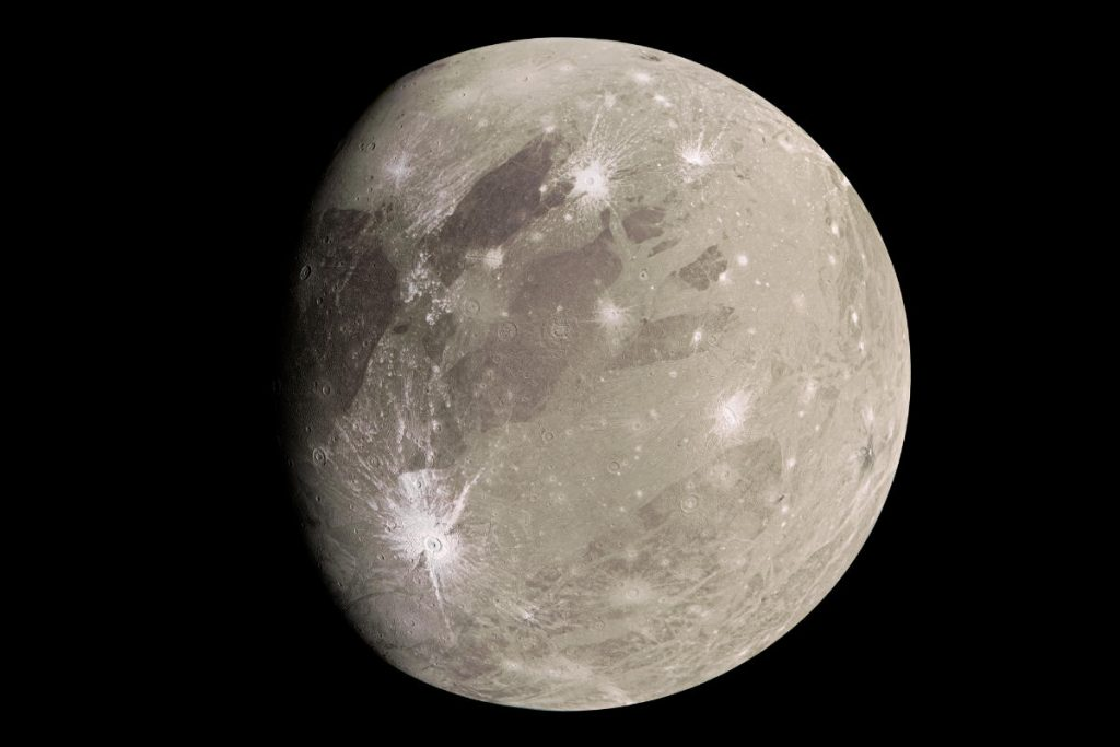 Discover water vapor in the atmosphere of the largest moon in our solar system