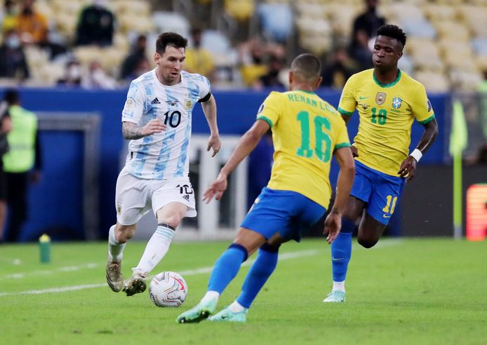 Messi in the Copa America final against Brazil.