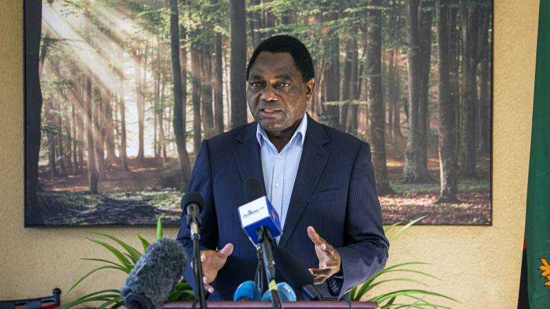 Opposition leader wins Zambia's presidential election |  NOS