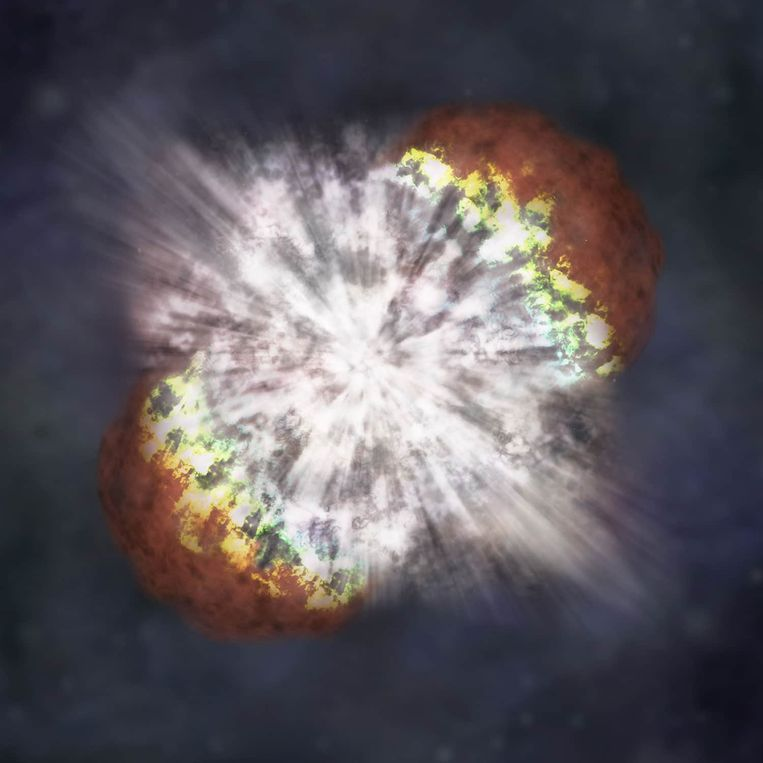 The first detailed image of a recently exploded star