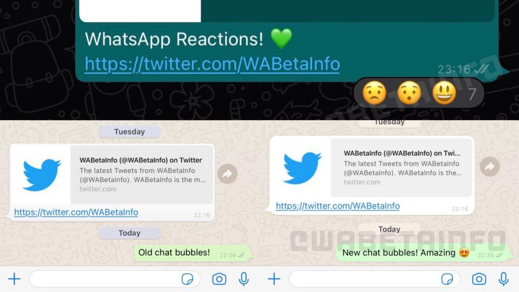WhatsApp Revamped: Pull Round Text & Emoji Reactions