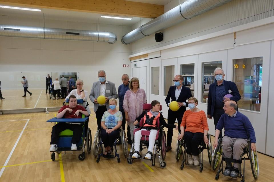 Ben Waits with wheelchair dancers.