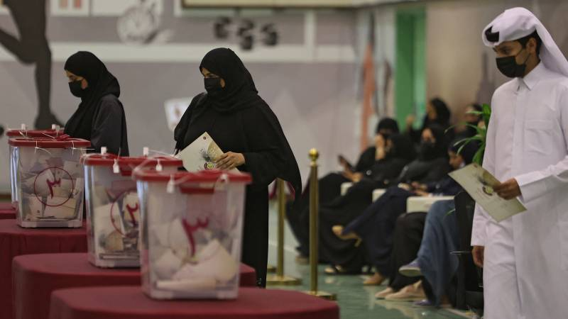 Nearly half of voters appear in Qatar's first parliamentary elections